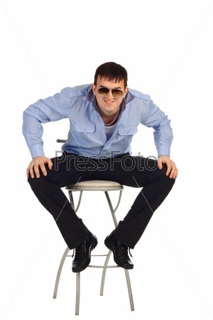 Guy sitting on the chair