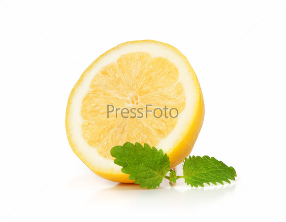 Lemon fruit isolated on white background