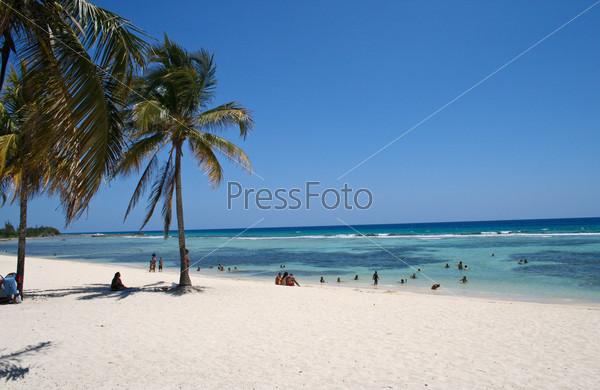 Пляж Карибского моря, остров Куба