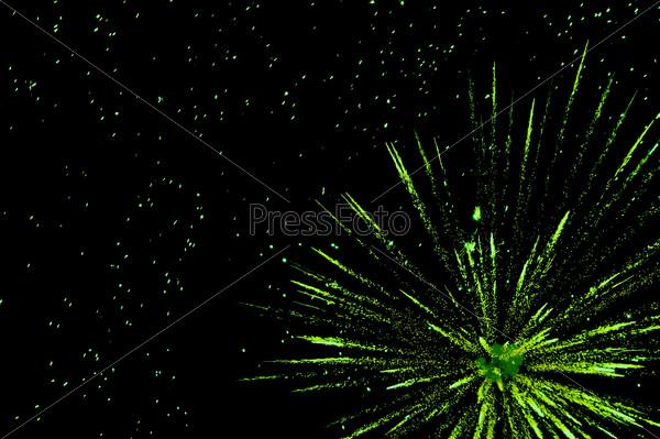 green festive fireworks