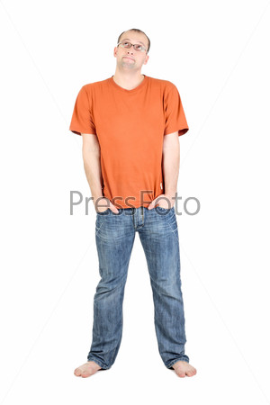 Young man isolated on the white