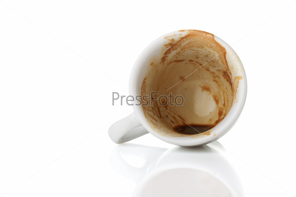 empty cup of espresso