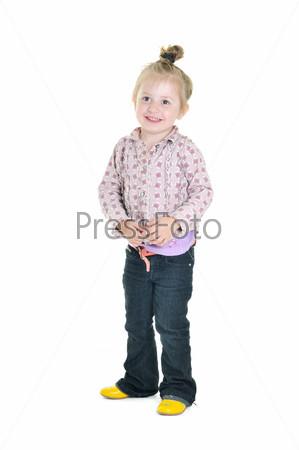 little girl isolated