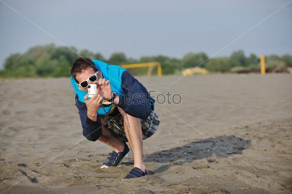 amateur photographer taking snapshot photo