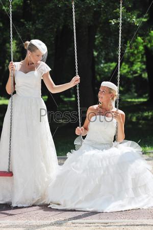 beautiful bride outdoor