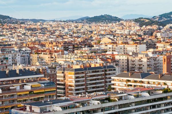 panorama of Barcelona city