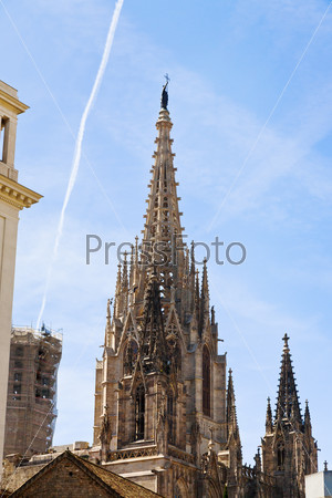 Gothic steeple of Barcelona Cathedral