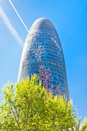 The Torre Agbar skyscraper in Barcelona