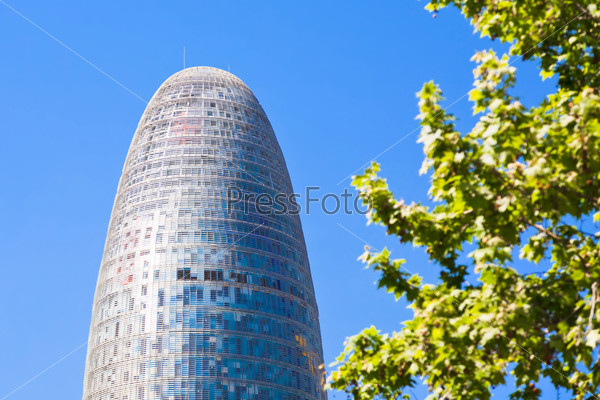 The Torre Agbar skyscraper in Barcelona