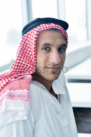 arab business man at bright office