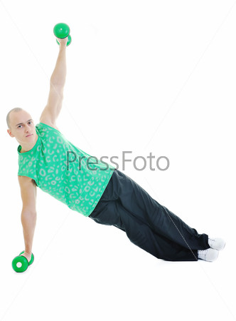 man fitness isolated
