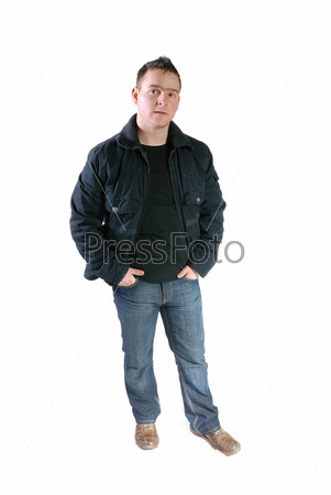 Casual friendly mant – isolated over a white background