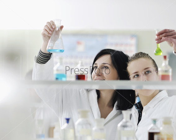 people group in lab