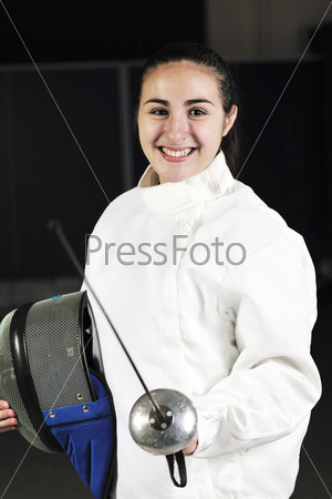 sword sport athlete portrait at training