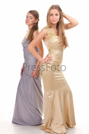 Envy of her friends - two girls in dress