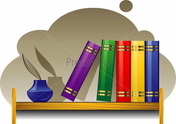 картинки полка с книгами