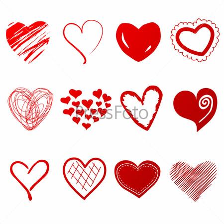 сердечки нарисованные картинки