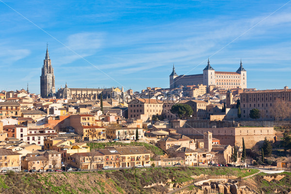 Old Toledo town view, Spain