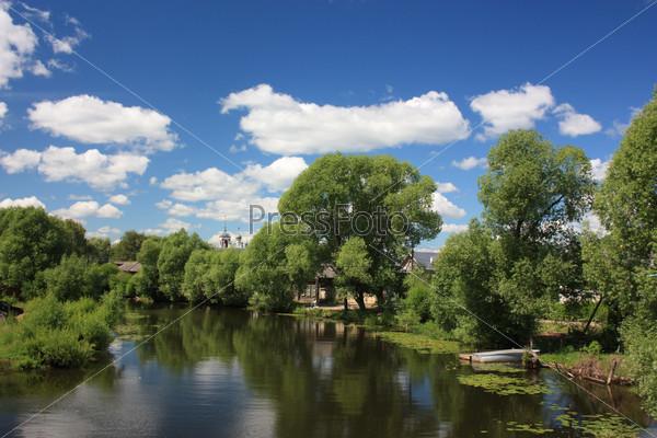 Россия, Ярославская область. Река Трубеж в Переславле-Залесском