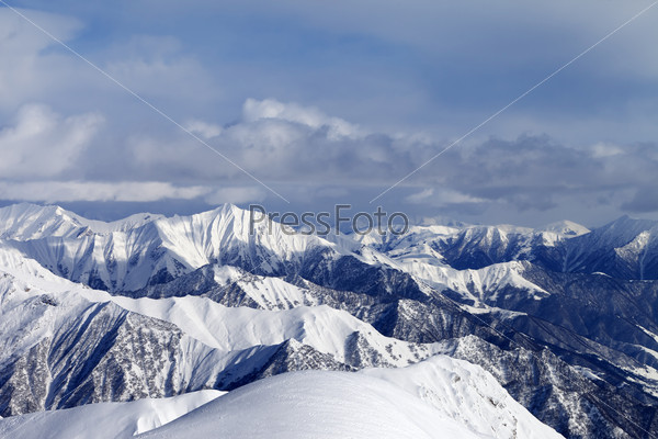 View from ski slopes