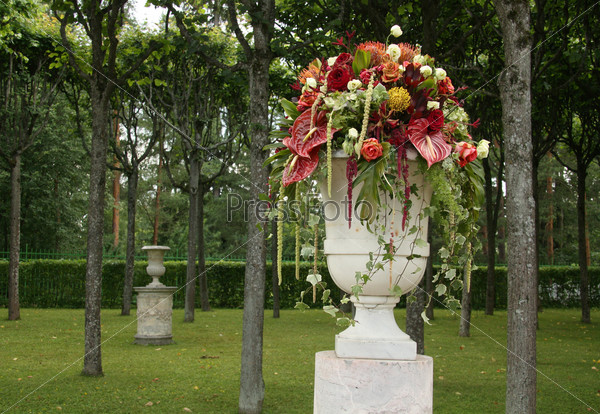 Цветочная композиция в парке Павловска
