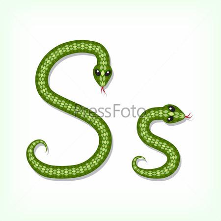 S Snake Font Snake font. Letter S