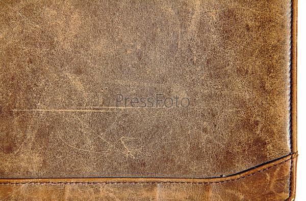 Кожа текстура бесшовная коричневая