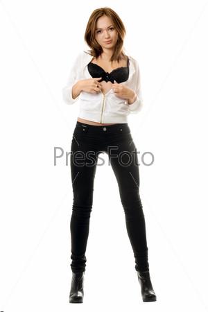 Фото красивых девушки в черных обтягивающих джинсах фото 730-797