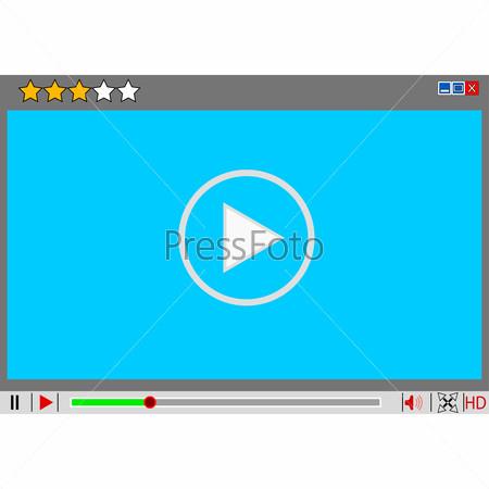 video movie media player interface