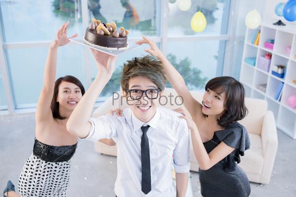 Reaching for cake