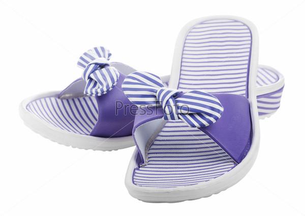 Пляжная женская обувь, изолировано