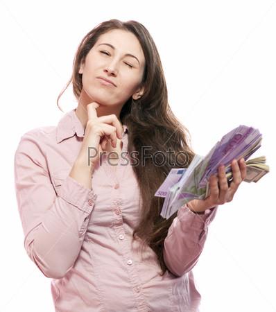 Фотография на тему Женщина с деньгами