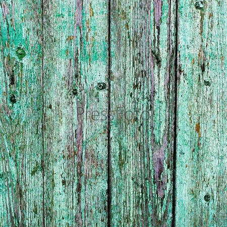 Старые деревянные доски, окрашенные в светло-голубой цвет
