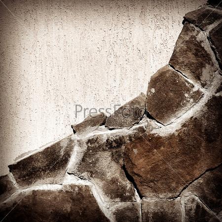 Фотография на тему Текстура каменной стены