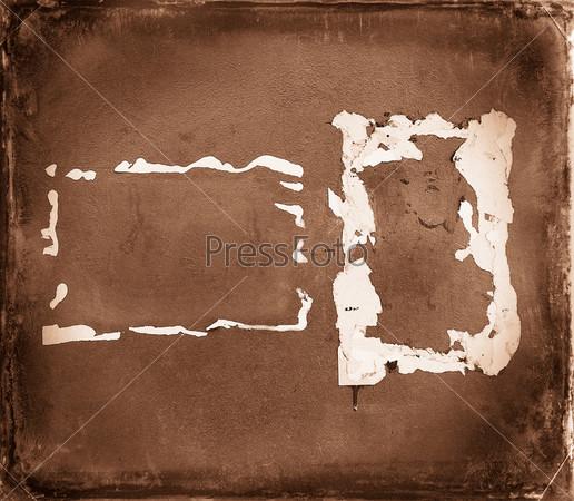 Винтажный фон, коричневая старая стена