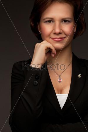 Фотография на тему Улыбающаяся деловая женщина