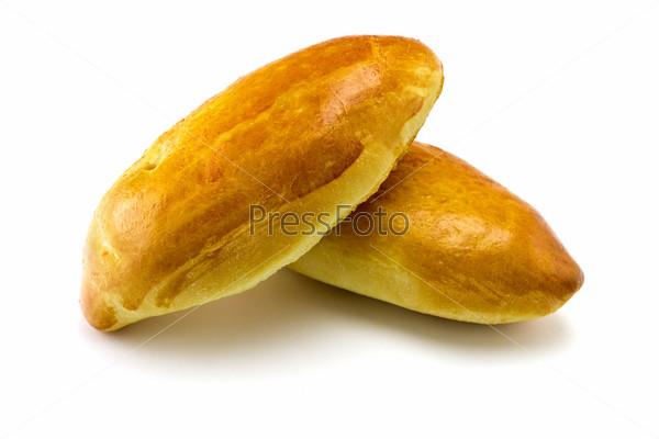Пирожки на белом фоне