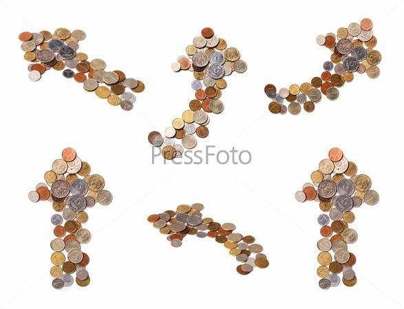 Различные стрелки из монет