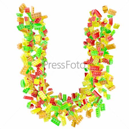 Фотография на тему Буква U из детских кубиков