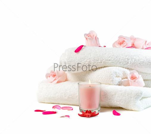Спа с розовыми цветами