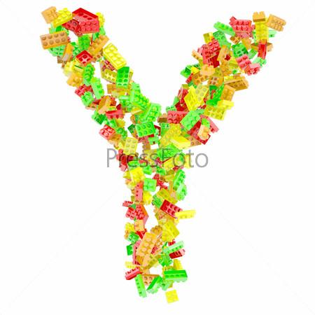 Буква Y из детского конструктора