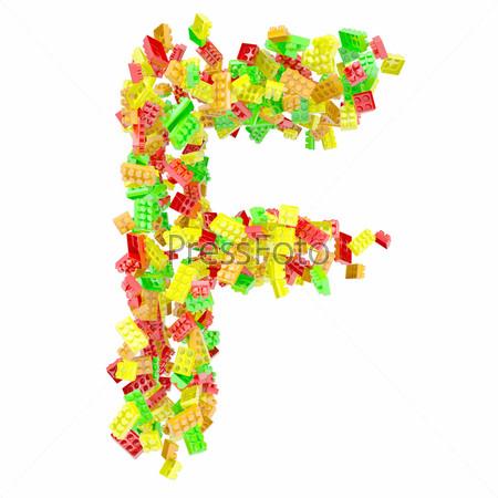 Фотография на тему Буква F из детского конструктора