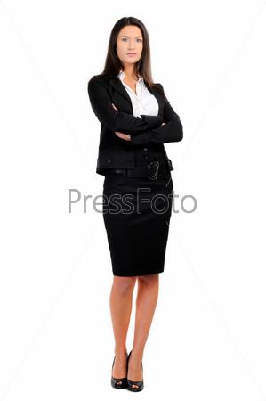 Фотография на тему Портрет бизнес-леди на белом фоне