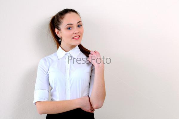 Фотография на тему Портрет девушки в офисе