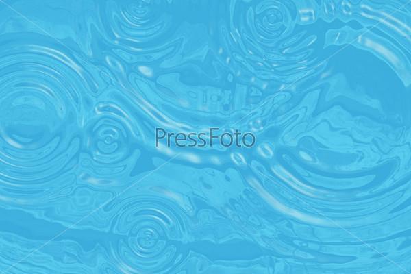 Бирюзовая водная поверхность с кругами