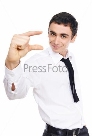 Молодой мужчина, изолированный на белом фоне