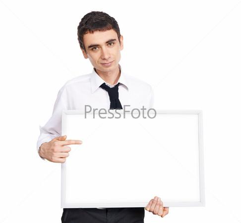 Фотография на тему Молодой мужчина, изолированный на белом фоне