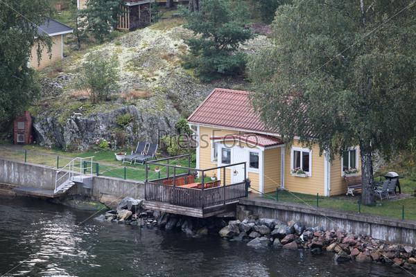 Фотография на тему Дом у моря, вид с воздуха