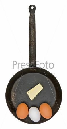 Старинная железная сковорода