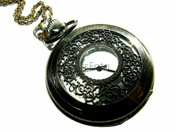 Антикварные часы крупным планом